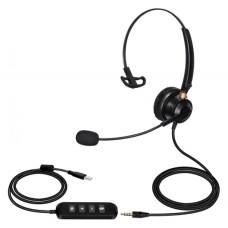 USB Single Speaker (Mono) Headset - XHS-BM9300-USB