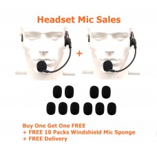 1+1 Sales - Headset Microphone XVHM61BS