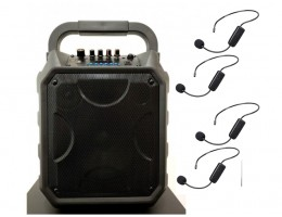 PA System With 4 Wireless Headset Mic