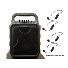 """PA 8"""" System XPA-E08-WM4 With Four (4) Hands-free Wireless Microphones"""