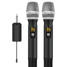 Dual Wireless Handheld Microphone with Mini Portable Receiver - XWM-PR250-HM