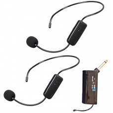 Dual Portable Wireless Headset Microphone - XWM-PD821-HM