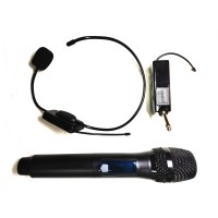 Dual Portable Wireless Handheld and Headset Microphone - XWM-PD280-MM