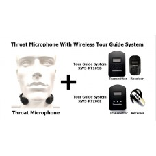 Throat Microphone With Wireless Tour Guide System XWS-RT105B-T822D