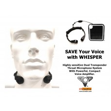Dual Transponder Throat Mic With Voice Amplifier -  XVA-VC319-T22