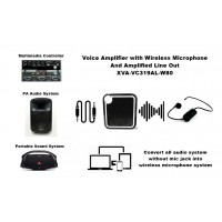 Voice Amplifier with Wireless Mic And Amplified Lineout - XVA-VC319AL-W80