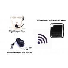 Wireless Bodypack with Voice Amplifier Speaker XVA-VC319-BPH65
