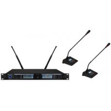 Wireless Microphone System 1-2 (Gooseneck Microphone) - XWM-S202-DG80