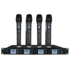 Wireless Microphone System 4 Channels (4 x Handheld Microphone) - XWM-S204-HH75