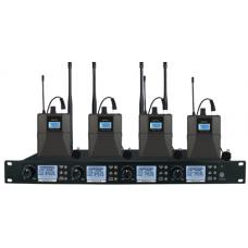 Wireless Microphone System 4 Channels (4 x Bodypack Microphone) -  XWM-S204-BP08