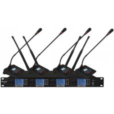 Wireless Microphone System 4 Channels (4 x Gooseneck Microphone) - XWM-S204-DG80